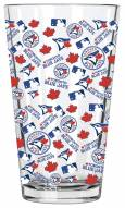 Toronto Blue Jays 16 oz. All Over Print Pint Glass