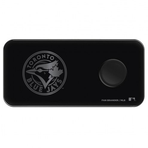 Toronto Blue Jays 3 in 1 Glass Wireless Charge Pad