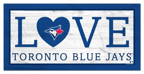 "Toronto Blue Jays 6"" x 12"" Love Sign"