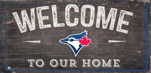 """Toronto Blue Jays 6"""" x 12"""" Welcome Sign"""