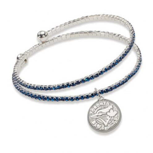 Toronto Blue Jays Amped Logo Crystal Bracelet