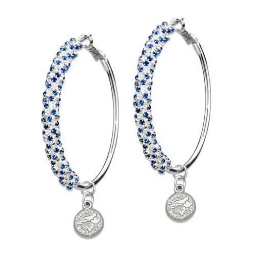 Toronto Blue Jays Amped Logo Crystal Earrings