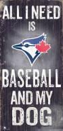 Toronto Blue Jays Baseball & My Dog Sign