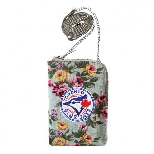 Toronto Blue Jays Canvas Floral Smart Purse