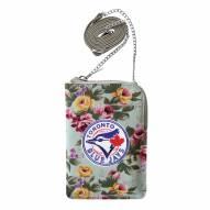 Toronto Blue Jays Canvas Floral Smart Purse