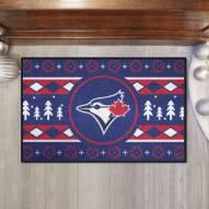 Toronto Blue Jays Christmas Sweater Starter Rug