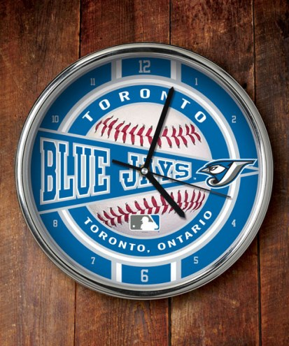Toronto Blue Jays Chrome Wall Clock