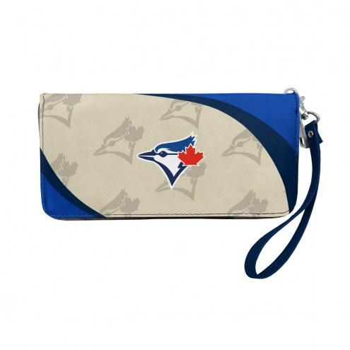 Toronto Blue Jays Curve Zip Organizer Wallet