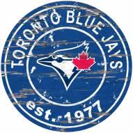 Toronto Blue Jays Distressed Round Sign