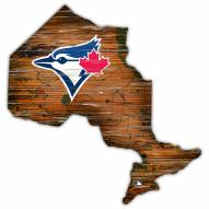 Toronto Blue Jays Distressed State with Logo Sign