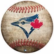 Toronto Blue Jays Baseball Shaped Sign