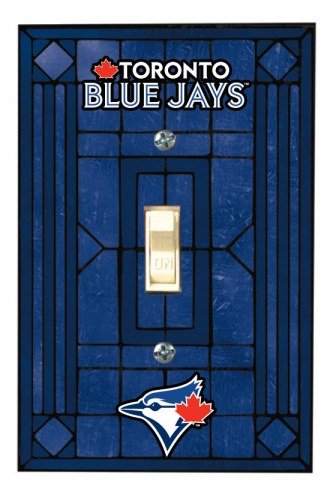 Toronto Blue Jays Glass Single Light Switch Plate Cover