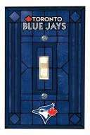 Toronto Blue Jays Glass Single Light Switch Plate Cover