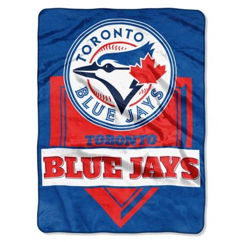 Toronto Blue Jays Home Plate Plush Raschel Blanket