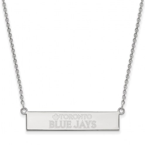 Toronto Blue Jays Sterling Silver Bar Necklace