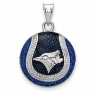 Toronto Blue Jays Sterling Silver Baseball Pendant