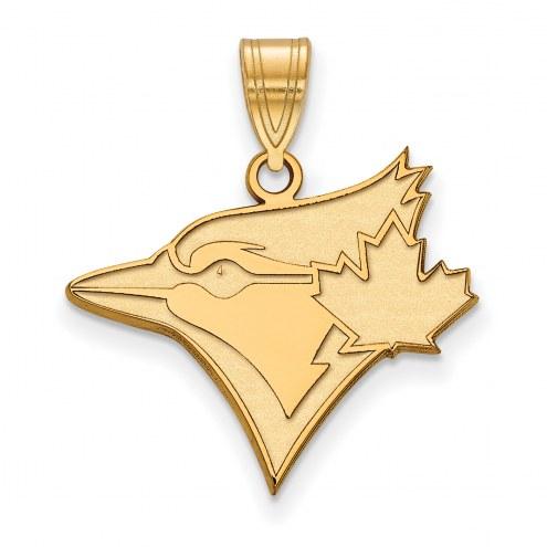 Toronto Blue Jays Logo Art Sterling Silver Gold Plated Large Pendant