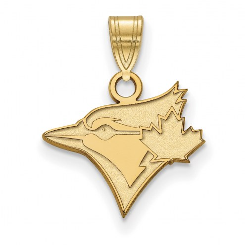 Toronto Blue Jays Logo Art Sterling Silver Gold Plated Small Pendant