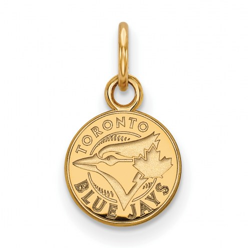 Toronto Blue Jays MLB Sterling Silver Gold Plated Extra Small Pendant