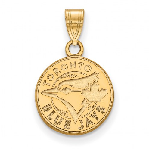 Toronto Blue Jays MLB Sterling Silver Gold Plated Small Pendant
