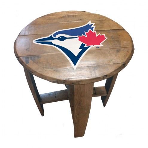 Toronto Blue Jays Oak Barrel Table