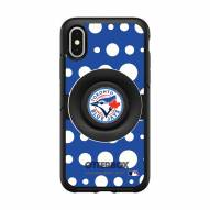 Toronto Blue Jays OtterBox Symmetry Polka Dot PopSocket iPhone Case