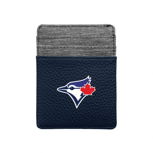 Toronto Blue Jays Pebble Front Pocket Wallet