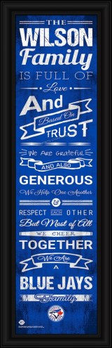 Toronto Blue Jays Personalized Family Cheer Framed Art
