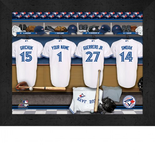 Toronto Blue Jays  Personalized Locker Room 11 x 14 Framed Photograph