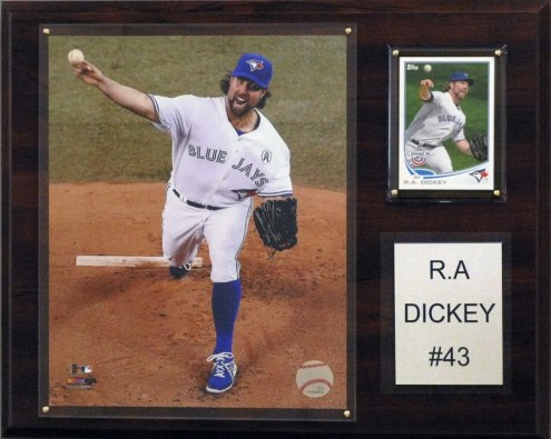 "Toronto Blue Jays R.A Dickey 12"" x 15"" Player Plaque"