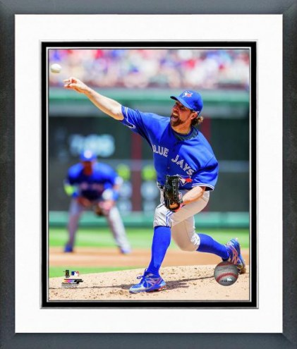 Toronto Blue Jays R.A. Dickey Action Framed Photo