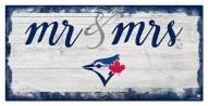 Toronto Blue Jays Script Mr. & Mrs. Sign