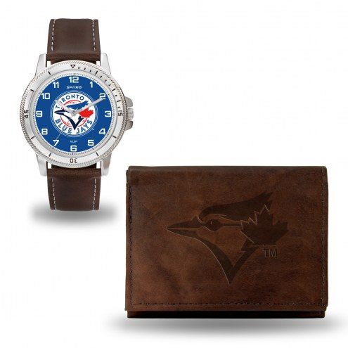 Toronto Blue Jays Sparo Men's Niles Watch & Wallet Set