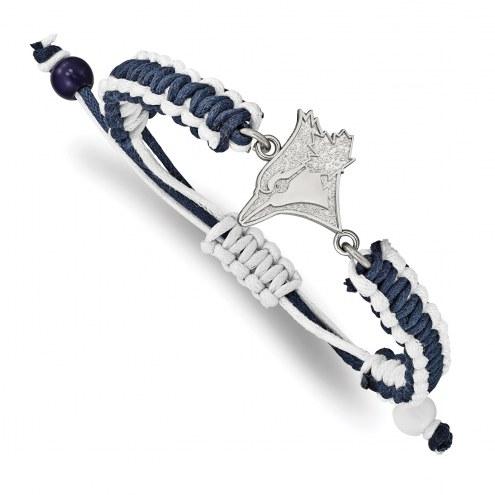 Toronto Blue Jays Stainless Steel Adjustable Cord Bracelet