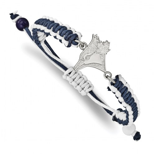 Toronto Blue Jays Stainless Steel Adjustable Cord Bracelet