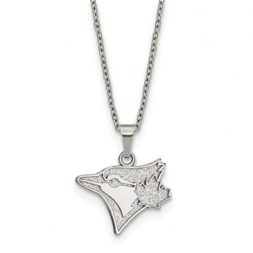 Toronto Blue Jays Stainless Steel Pendant Necklace