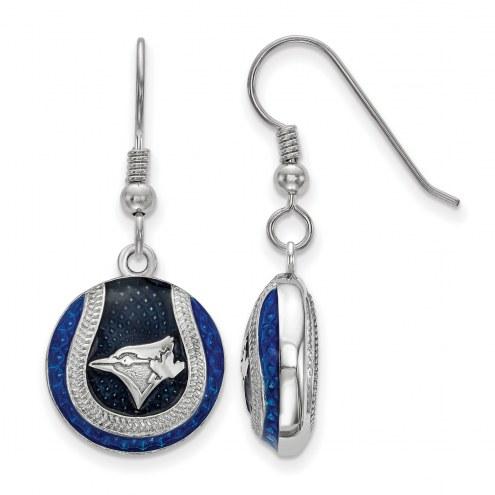Toronto Blue Jays Sterling Silver Dangle Earrings