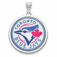 Toronto Blue Jays Sterling Silver Disc Pendant