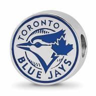 Toronto Blue Jays Sterling Silver Enameled Bead