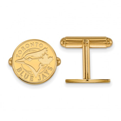 Toronto Blue Jays Sterling Silver Gold Plated Cuff Links