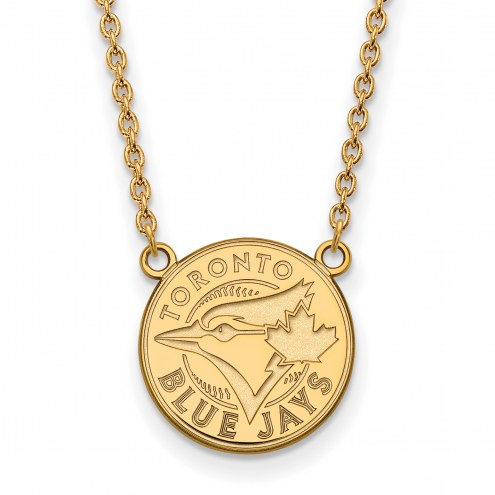 Toronto Blue Jays Sterling Silver Gold Plated Large Pendant Necklace