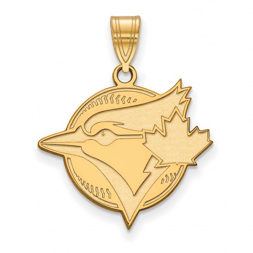 Toronto Blue Jays Sterling Silver Gold Plated Large Pendant