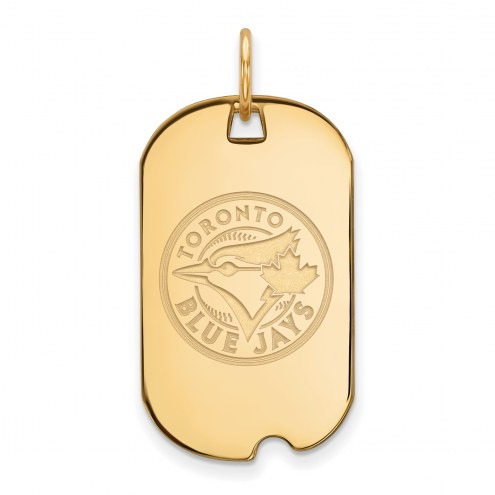 Toronto Blue Jays Sterling Silver Gold Plated Small Dog Tag