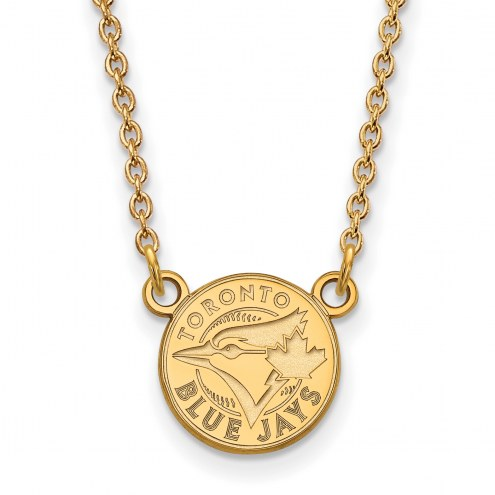 Toronto Blue Jays Sterling Silver Gold Plated Small Pendant Necklace