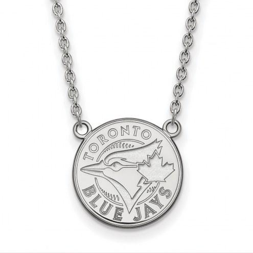 Toronto Blue Jays Sterling Silver Large Pendant Necklace