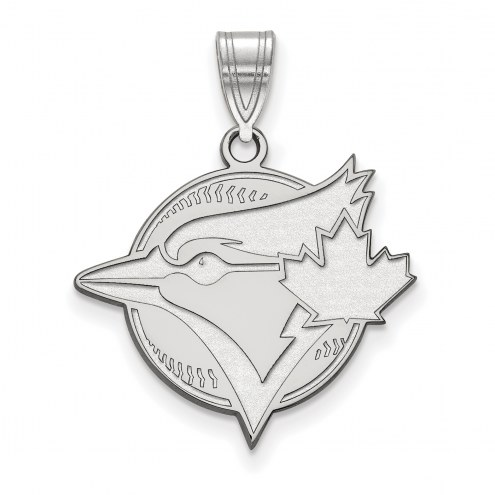 Toronto Blue Jays Sterling Silver Large Pendant