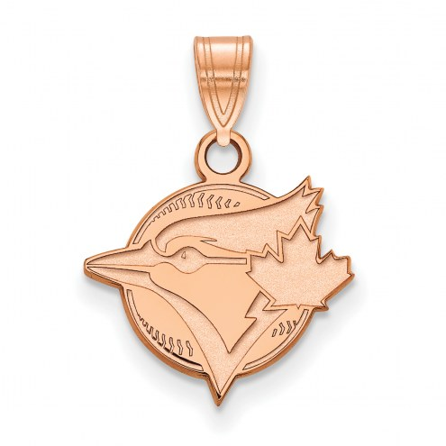Toronto Blue Jays Sterling Silver Rose Gold Plated Small Pendant