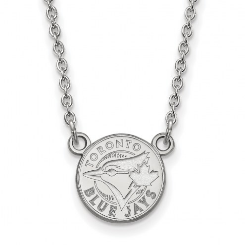 Toronto Blue Jays Sterling Silver Small Pendant Necklace