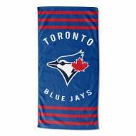 Toronto Blue Jays Stripes Beach Towel