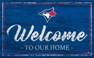 Toronto Blue Jays Team Color Welcome Sign